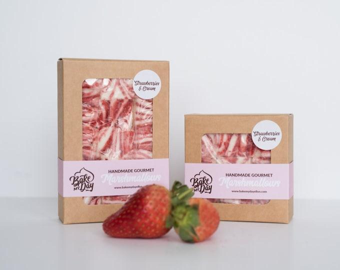 Strawberries & Cream Handmade Marshmallows