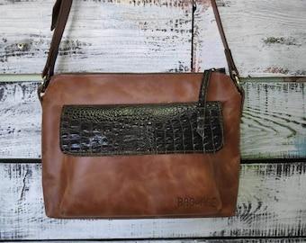 e14020c056e Lady's brown clutch leather handbag Flap Bag portfolio crossbody bag  leather Messenger bag leather women cute business bag