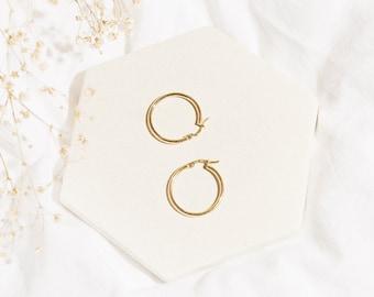 Hoop earrings - Hoop gold earrings - Dainty gold earrings - Tiny gold earrings - 14k hoop earrings - Hypoallergenic 14k Gold Hoop Earrings