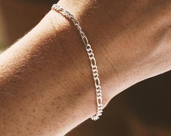 Silver curb bracelet - Curb chain bracelet - Silver 925 jewelry - Unisex silver bracelet - Sterling silver ankle bracelet