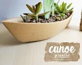 Canoe Planter - Large Woo...