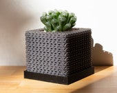 Cubelia - Modern Minimalist Cube Pot, Geometric Succulents Pot, Minimalist Succulent Planter, Square Pot, Mini Orchid Pot, Math Teacher Gift