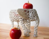 Elephant Fruit Bowl as a Holiday Centerpiece, Banana Holder, Elephant Decor, Fruits Basket, Elephant Figurine, Hygge Home,
