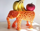 Elephant Fruit Bowl as a Holiday Centerpiece, Banana Holder, Elephant Decor, Fruits Basket, Elephant Figurine, Hygge Home,