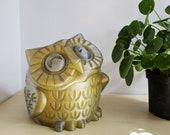 Smoky Grey and Yellow Mega Large Owl Succulent Planter, Cute Animal Planter, Houseplant Planter, Animal Planter, Cute Animal Pot, Plant Mom