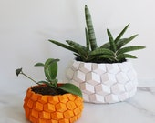 Modern Geometric Planter - Succulent Planter, Honeycomb Planter, Geometric Pot, 3D Planter, Honeycomb Pattern, Hexagon Planter, Modern Pot