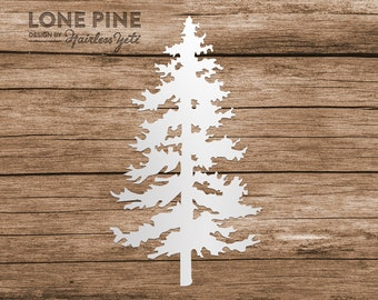 Lone Pine Tree Evergreen Computer Phone Tablet Decal Sticker