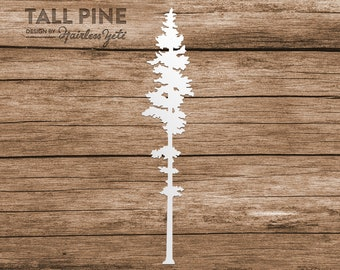 Tall Pine Tree Evergreen Computer Phone Tablet Decal Sticker