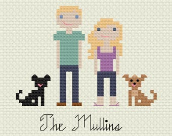 Custom Cross Stitch Family Pattern
