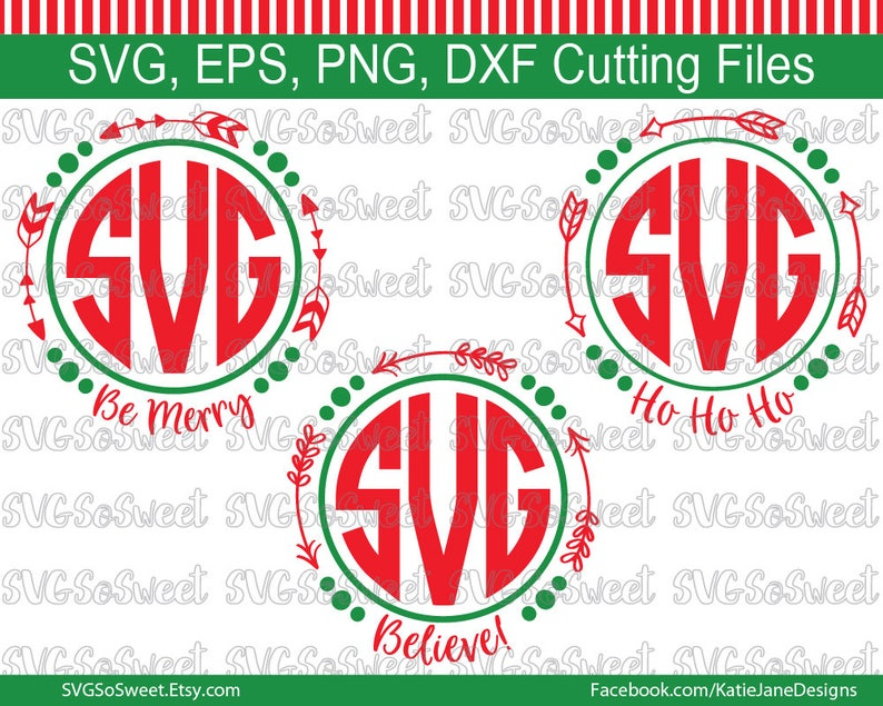 Christmas Arrow Png.Christmas Svg Be Merry Svg Believe Svg Arrow Monogram Bundle Ho Ho Ho Svg Png Eps Dxf Cutting And Print Files