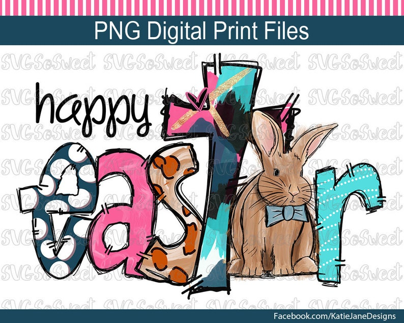 Easter Png Happy Easter Clipart Easter Bunny Religious Etsy