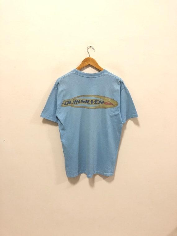 Vintage 90s!! Quiksilver Tshirts Big Logo Tshirts