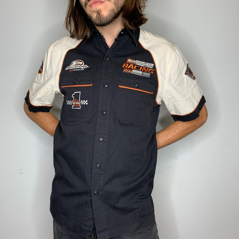Harley-Davidson Men/'s Vintage Gothic Short Sleeve Crew-Neck T-Shirt Black