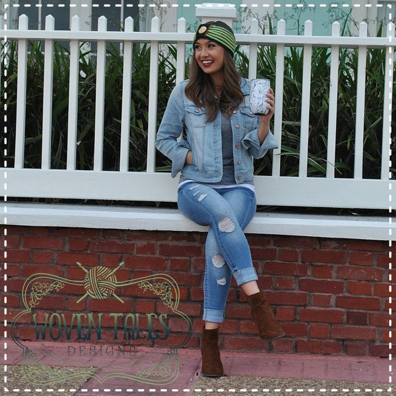 Crocheted Anna Coronation Earwarmer Headband Frozen Fall Fashion Handmade Winter Headband Disney Princess Inspired