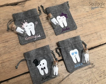 Personalised Tooth Fairy Bag With Jar