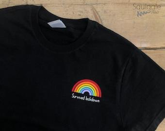 CHILD - I Survived Lockdown Rainbow T-Shirt