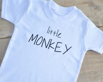 Kids Little Monkey T-shirt Child Birthday Gift