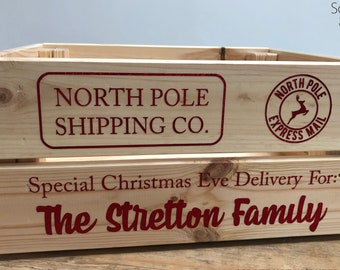Personalised Christmas Eve Box Sticker Decal - *STICKER ONLY*