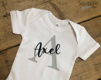 Personalised Baby Vest | Name And initial