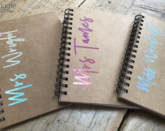 Personalised Teacher Gift A5 Notebook | Teachers Gift | Spiral Pad Lined Paper