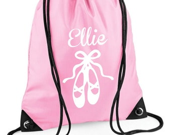 Personalised Ballet Bag Draw String
