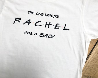 The One Where Has A Baby Pregnancy Announcement Friends Adult T-shirt