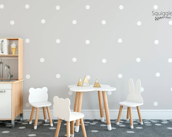 Featured listing image: Polka dot vinyl wall stickers