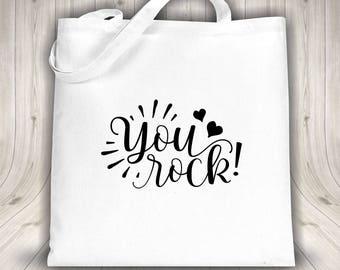Tote bag - You Rock - Black or white bag
