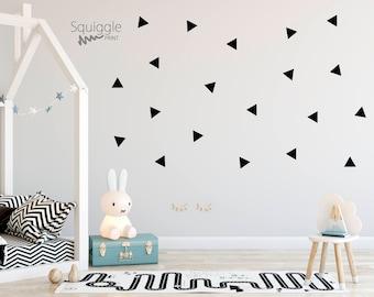 Triangle vinyl wall stickers
