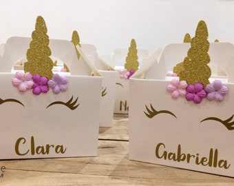 Unicorn Party Boxes hand made to order (Pack of 10)