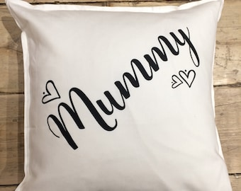 Personalised cushion covers - Black or white