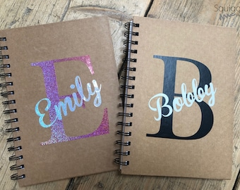 Personalised Notebook | A5 Notepad |  Lined Paper