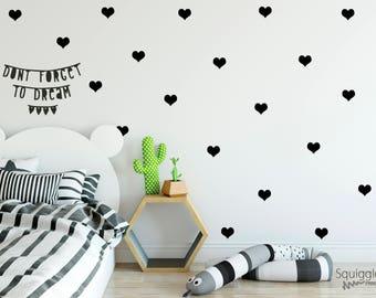 Heart vinyl wall stickers