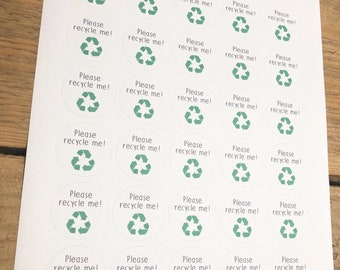 Please Recycle Me Recyclable Paper Stickers