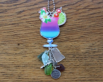 Colored Tropical Drink Car Charm