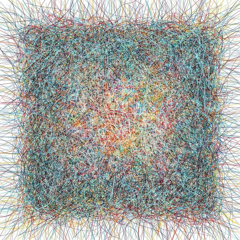 Modern art abstract drawing print Abstract print Abstract image 0