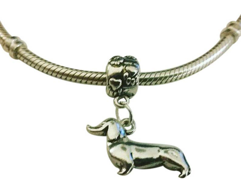 89d757226b6de Dachshund Charm for Bracelet - Doxie Charm - Silver Dachshund Charm -  Dachshund Charm - Fits all Charm Bracelets - Christmas Gifts for Her