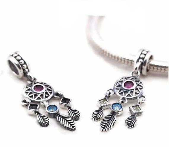 Sterling Silver Dream Catcher Charm Dream Catcher Jewelry Etsy New Dream Catcher Charm Bracelet