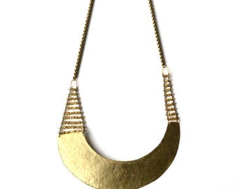 Aether Brass Necklace by Demi-Monde