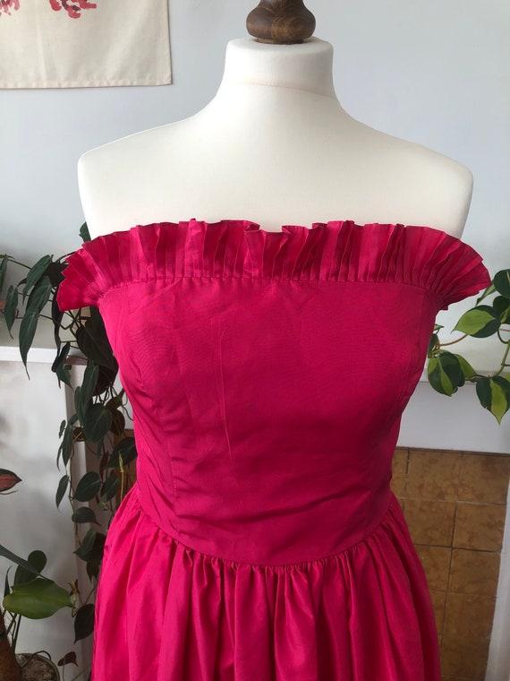 Vintage Radley Fuchsia/Shocking Pink 80s Taffeta S