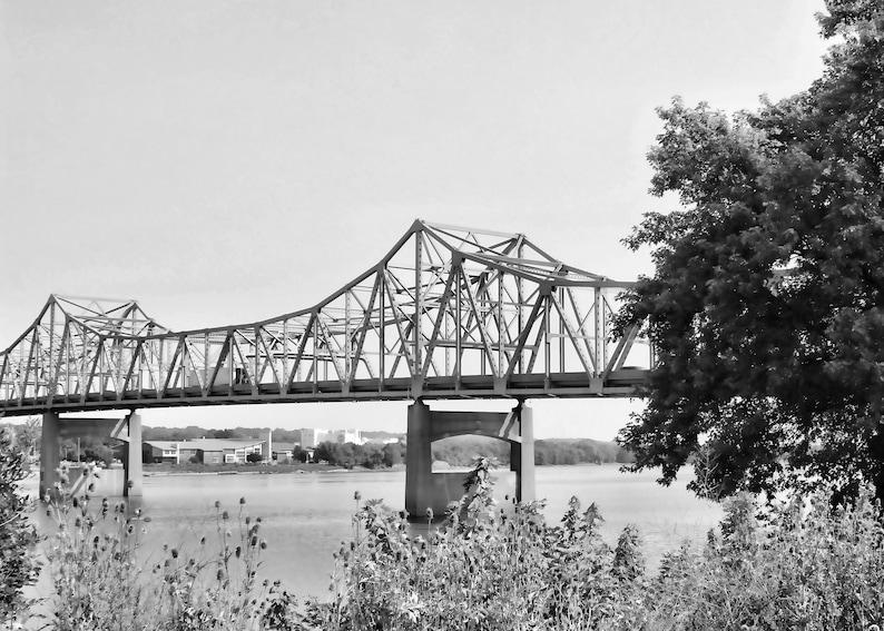 Midwest Wall Art Peoria Photography Murray Baker Bridge Illinois Photography Illinois River