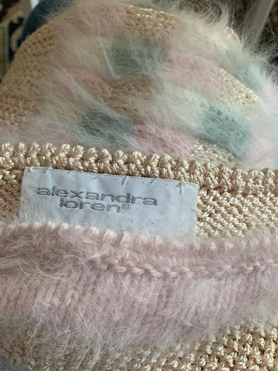 NOS Vintage 1980s Sweater * Super Fuzzy * White P… - image 5