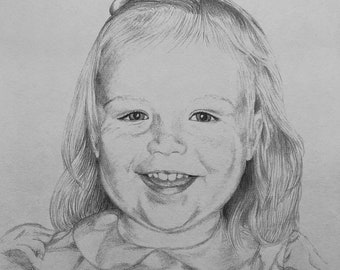 Custom Graphite Pencil Portrait Drawing from Photo - Single Subject