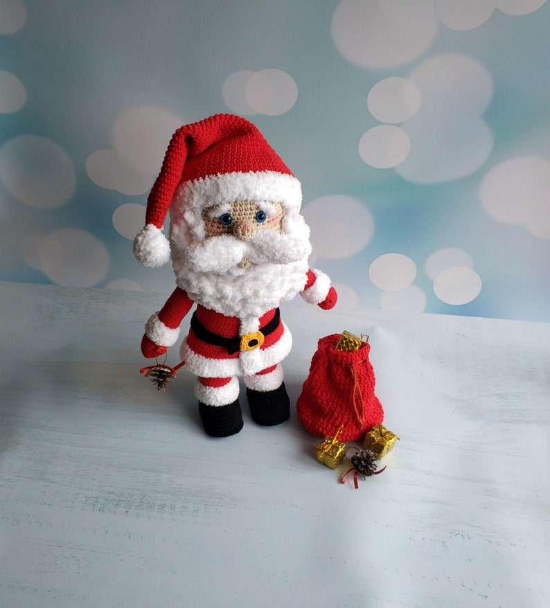 Crochet pattern Big Santa Claus  Christmas pattern Amigurumi image 0