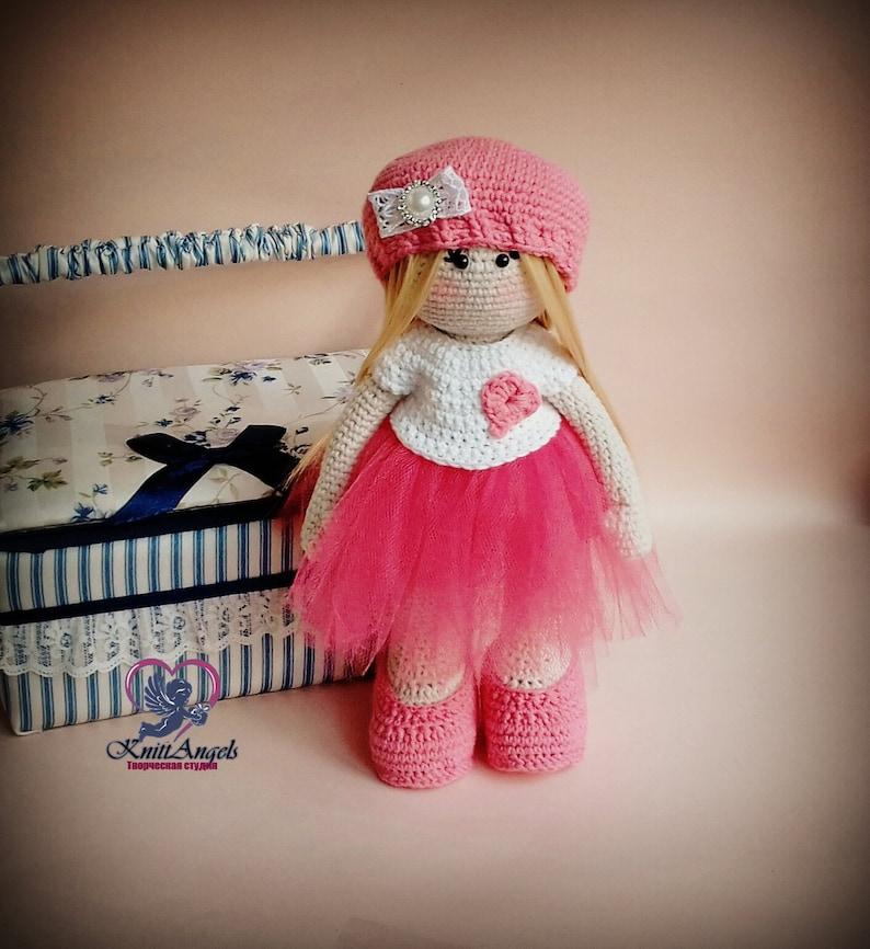 8612adbe4 Tilda Doll ballerina in tutu skirt Crochet doll amigurumi | Etsy