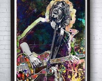 Chris Cornell, Audioslave, Soundgarden, Grunge Rock, Guitar, Chris Cornell Poster, Music Legend, Music Room, Rock n Roll Art, Rock Legend