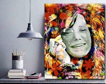 Verwonderlijk Janis Joplin kunst Joplin Art Print hippie kunst 60s   Etsy KP-87