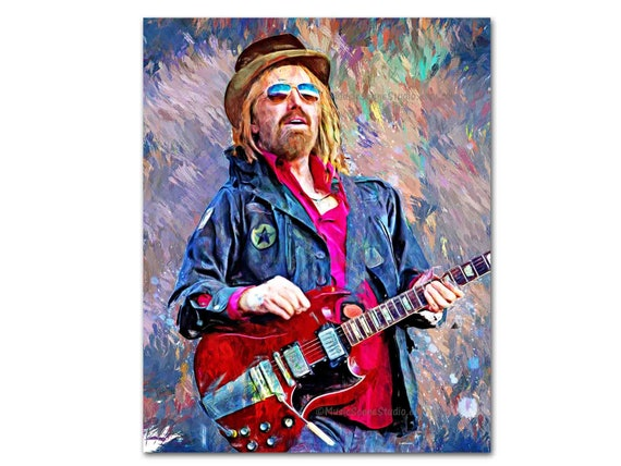 Tom Petty Music Rock Framed Canvas Art Picture Print Ready To Hang