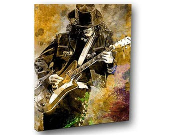 Jack White Canvas Art, The White Stripes Canvas Art, Spanish Guitar Art, Guitar Canvas, Original Jack White, Muted Tones, Canvas Art Music