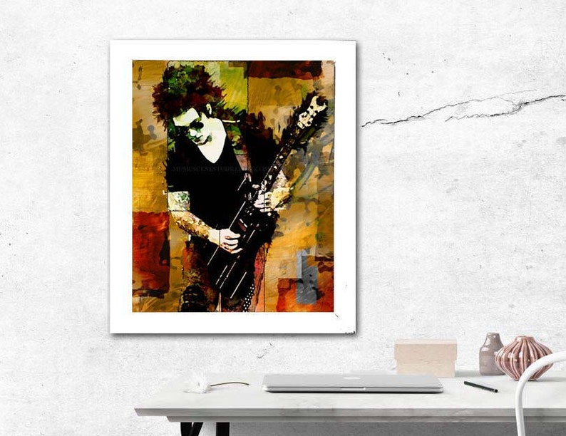 Gitarre Kunst Gitarrist Coole Musik Poster Coole Kunst Rock N Roll Rocknroll Wand Musik Druck Gitarren Medienkunst Zimmer Im